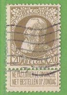 MiNr.74 O Belgien - 1905 Breiter Bart