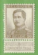 MiNr.102 (x) Belgien - 1905 Breiter Bart