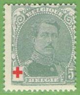 MiNr.107 (x) Belgien - 1905 Breiter Bart