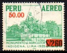 06332 Peru Aéreo 435A Monumento Ao Agricultor U - Peru