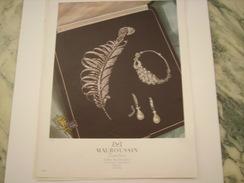 ANCIENNE PUBLICITE JOAILLIER  MAUBOUSSIN  1949 - Bijoux & Horlogerie
