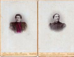 2 Photos De Portraits De Femmes  Collée Sur Fort Support Carton - Photo Chéri Rousseau Marseille  (98927) - Personnes Anonymes