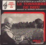 45 TOURS GEORGES GARVARENTZ BOF LE TONNERRE DE DIEU  / M EPOUSERA T IL / NUIT D AMOUR / REVEIL A LA CAMPAGNE / GENERIQUE - Soundtracks, Film Music