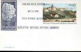 24309 U.s.a. Special Postmark  1999  Minerals, Rock Springs - Minerals
