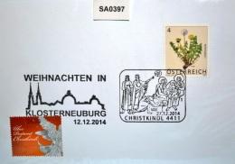 SA0397 Weihnachten 2015, 2 Sonderstempel, 4411 Christkindl AT 27.12.2014 - Affrancature Meccaniche Rosse (EMA)