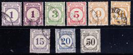 Malayan Postal Union 1936-51 Tx  Dent.15x14 9 Val Us. - Malayan Postal Union