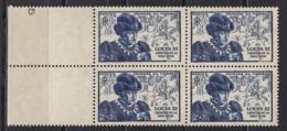 FRANCE 1945 - BLOC DE 4 TP Y.T. N° 743  -  NEUFS** /Y164 - France