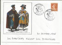 OBLITERATION BICENTENAIRE REVOLUTION  CANTAL AURILLAC 1989 - Commemorative Postmarks