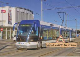 Rame TVR Bombardier Du Tramway Sur Pneus, à Caen (14) - - Tramways
