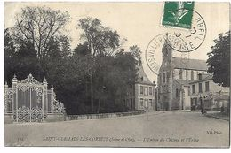 SAINT GERMAIN LES CORBEIL - L'Entrée Du Château Et L'Eglise - France