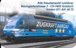 Schweiz: Visitenkarte - Lokomotive 2000, Zugkraft Aargau - Other Collections