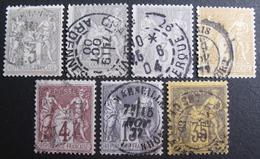 LOT R1631/1639 - SAGE Type II N°77-86-87-88-93 - LOT DE 7 TIMBRES - Cote : 116,00 € - 1876-1898 Sage (Type II)
