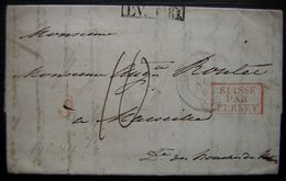 1835 Suisse Par Ferney En Rouge LV.6.R Noir 3 En Rouge Sur Une Lettre De Lausanne Pour Marseille - Postmark Collection (Covers)