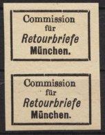 """Retourmarken: München: Senkrechtes Paar, Runder Bzw. Eckiger Punkt Hinter """"München"""", ** - Bayern"""
