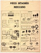 Feuillet De 4 Pages. Pièces Détachées Meccano. En Page 4 : Pièces électriques Meccano-Elec. - Meccano