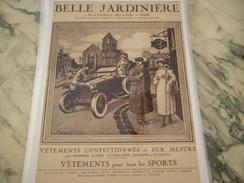 ANCIENNE PUBLICITE LES GRAND MAGASIN A LA BELLE JARDINIERE CAMPAGNE HOTEL - Habits & Linge D'époque