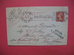 Le Havre Entier Postal 1914 Retour à L'envoyeur - 1921-1960: Moderne