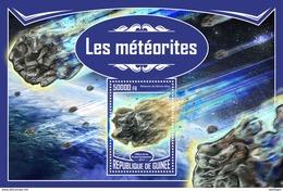 GUINEA 2017 - Meteorites S/S. Official Issue - Minéraux