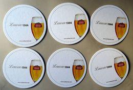 STELLA ARTOIS Beer, Brewery Belgium, Beer Mats (6 Pcs.) - Beer Mats