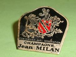 Pin's / Boissons  : Champagne , Jean Milan    TB2Q - Boissons