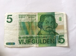 NEDERLAND 5 GULDEN 28.3.1973 CIRCULATED - [2] 1815-… : Regno Dei Paesi Bassi