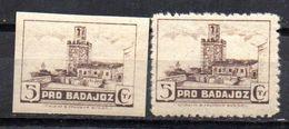 Viñetas Nº 36/36s Pro Badajoz. - Vignettes De La Guerre Civile