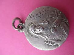 Médaille Religieuse Ancienne/Coeur De Jésus/Vierge Et Enfant/CONQUES/ Ste Foy/Compostelle/ Fin XIXéme Siécle   CAN464 - Religion & Esotericism
