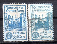 Viñetas Nº 10 La Palma Del  Condado Color Azul Y Verde. - Vignettes De La Guerre Civile