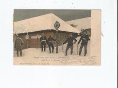 GRUSS VON DER SCHLUCHT -GRENZE (1100 M U. D. MEERE) 1901(FRONTIERE FRANCO ALLEMANDE) - Douane
