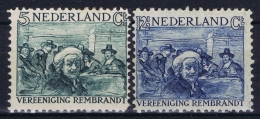 Netherlands: NVPH Nr 229 + 231 Postfrisch/neuf Sans Charniere /MNH/**  1930 Rembrandt - Period 1891-1948 (Wilhelmina)