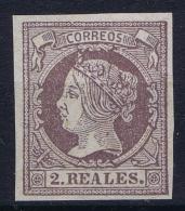Spain:  Ed 56 Mi Nr 48  Not Used (*) SG 1860-61 - 1850-68 Koninkrijk: Isabella II