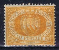 San Marino: Mi Nr 6 MH/* Falz/ Charniere 1890 - Saint-Marin