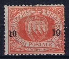 San Marino: Mi Nr 11 MH/* Falz/ Charniere 1892 - San Marino
