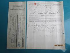 Facture + Traite 1901 à LYON 5 Rue Penthièvre André DESCOURS CABAUD & Cie Anc Mais. César Dufournel  Produits Métal - France