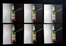 BECKS BIER , Brewery Beck & Co , Bremen Germany, Beer Mats X (6 Pcs.) - Sous-bocks