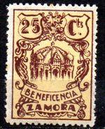 Viñeta Nº 4 Beneficiencia Zamora. - Vignettes De La Guerre Civile