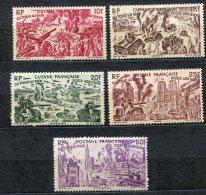 4225    GUYANE   PA 29/34**  Sauf  29   (5F)     Tchad Au Rhin  1946   TTB - French Guiana (1886-1949)