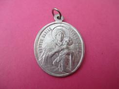 Médaille Religieuse Ancienne/Maria Et Enfant/Serviteur Du Christ/Caritas Christi/Regnum Mariae/Fin XIXéme Siécle  CAN469 - Religion & Esotericism