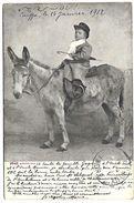SYRIE - Caiffa Le 14 Janvier 1912 - Enfant Sur Un Ane - Syrie