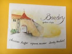 4967 - Boudry Christian Kuffer Neuchâtel Suisse - Etiquettes