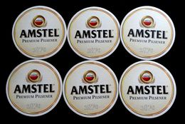 AMSTEL Premium Pilsner, Beer Mats X ( 6 PCS.) - Beer Mats