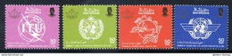 BRUNEI 1986 World Organisations II  MNH / **.  SG 383-86 - Brunei (1984-...)