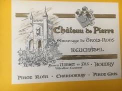 4976 - Château De Pierre Encavage Des Trois-Rods Pinot Noir Chardonnay Pinot Gris Neuchâtel Suisse - Etiquettes