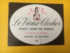 4979 - Le Vieux Clocher Pinot Noir De Peissy Genève Suisse - Etiquettes
