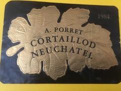 4981 - A.Porret 1984 Cortaillod Neuchâtel Suisse - Etiquettes