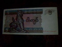 Billet Neuf De 5 Kyats Myanmar Neuf Ttbe - Billets