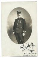 CPA  COMMANDANT DU 154 EME DE SAINT BRIEUC 1915 / CACHET MILITAIRE / MOUSTACHE - Personaggi