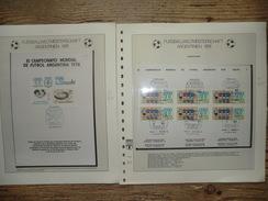 50 Documents Sur Coupe Du Monde_World Cup_Argentina_Football 1978_feuilles Lindner (blocs, Enveloppes) - World Cup