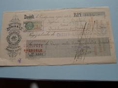 MORIN & Cie Succ. Dieulefit ( Drôme )( Draps & Molletons ) 1928 DIEULEFIT > Grenoble - Reçu / Wissel ! - Lettres De Change