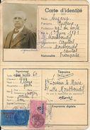 Carte Identité Eugène A. Négociant En Toile 1943 Montboudif (Cantal) - Vecchi Documenti